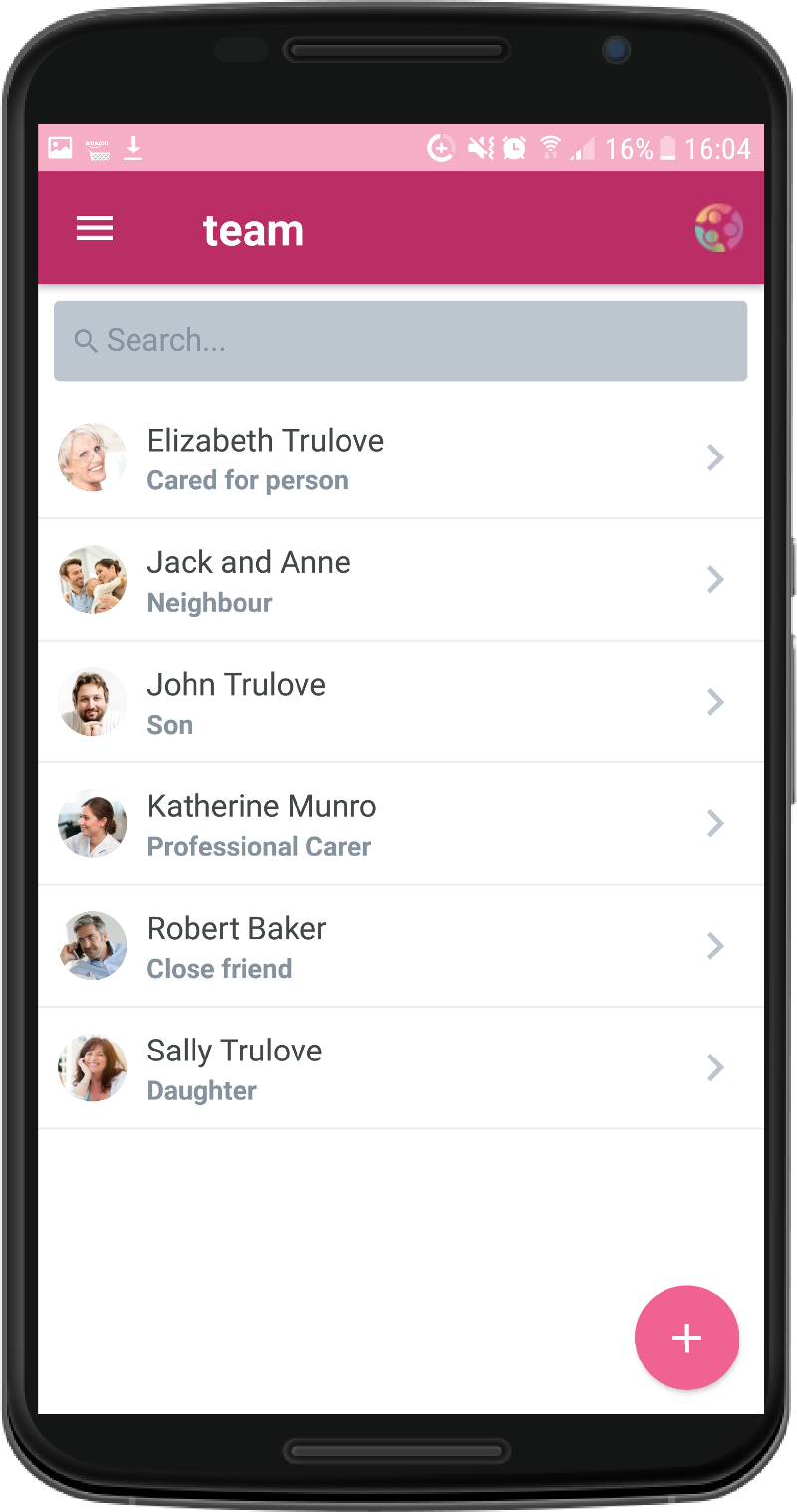 CareTeam App Team Management