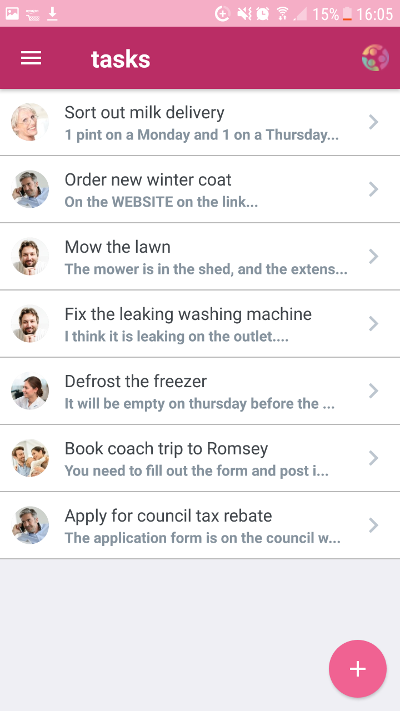 CareTeam App Tasks